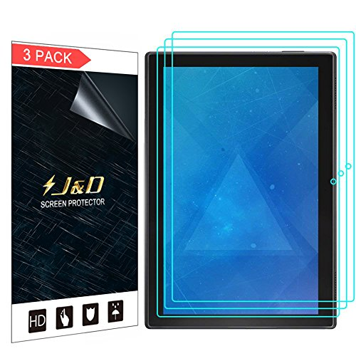 J&D Compatible for Lenovo Tab 4 10 inch Android Tablet Screen Protector (3-Pack), Not Full Coverage, HD Clear Protective Film Shield Screen Protector for Lenovo Tab 4 10 inch Android Tablet