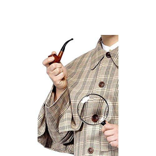 Amakando Set Détective Ensemble de Détective Pipe et Loupe Espion Sherlock Holmes Soirée Déguisement Accessoire