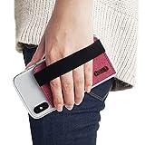 Ringke Flip Card Holder Porta Carte Adesivo Portafoglio con Cinghia Elastica Compatibile con Custodie per iPhone, Galaxy, Xiaomi, Huawei - Deep Pink