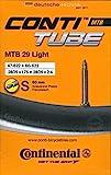Continental Fahrradschlauch MTB 28/29 Zoll Light Piezas de Bicicleta, Unisex-Adult, Negro-Negro, [47-622-60-622]