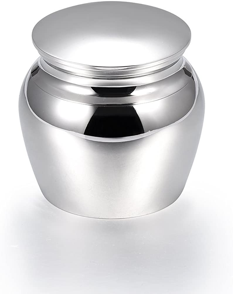 Jovivi Perssonalized Custom Small Cremation Urn for Pet Ashes Decorative Mini Keepsake Urns for Human Ashes Stainless Steel Memorial Ashes Holder