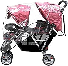 Ymkf Sqqr Weather Shield Double Popular for Swivel Wheel Stroller Universal Size Baby Rain Cover/Wind Shield Deal (Black)