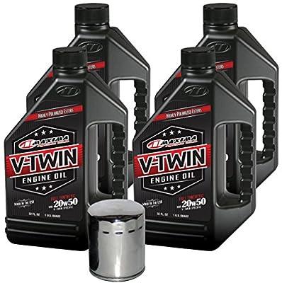 MaximaHiflofiltro VTEOCK13 Full Synthetic Engine Oil Change Kit for Harley Davidson Twin Cam V-Twin - 4 Quart