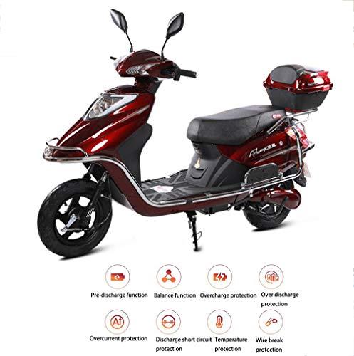 Elektromobilität Motorroller Elektromotorrad 48V / 60V / 20AH Erwachsene Männer und Frauen gehen Blei-Säure-Batterie Licht Erwachsene Batterie Auto weiß rosa 800w