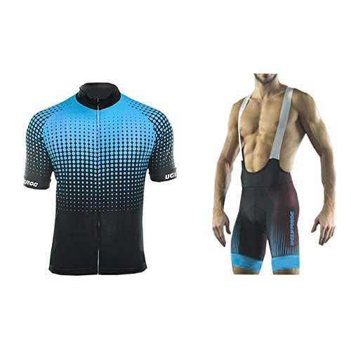 Uglyfrog 2019 Bike Wear De Manga Corto Maillot+ Pantalones Cortos Mangas Cortas de Ciclismo Ropa Maillot Transpirable para Deportes al Aire Libre Ciclo Bicicleta Equipacion Ciclista DTMX01