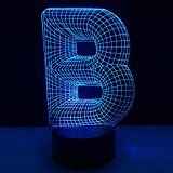 Luz de noche de 3Dcarta Lámpara de ilusión 3D Multicolor con control remoto para sala de estar Bar Habitación Juguetes de regalo Regalo perfectos para niño