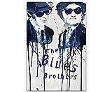 Paul Sinus Art The Blues Brothers 90x60cm auf Leinwand
