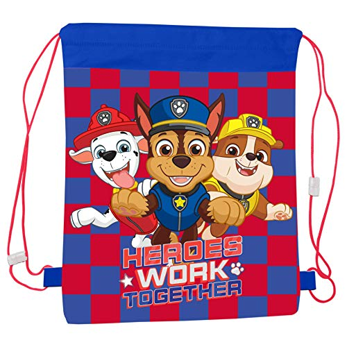 Templar Paw Patrol Tasche mit Kordelzug, für Schule, Sport, einfach zu schließender Trage-Rucksack für Kinder