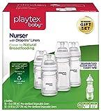 Playtex BPA Free Premium Nurser Bottles with Drop In Liners Gift Set by Playtex