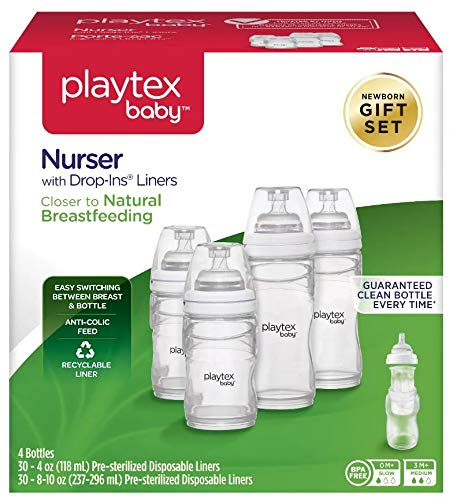 Image of Playtex Baby Nurser Gift Set, Includes Anti-Colic Feeding Essentials to Meet Your Baby's Growing Needs