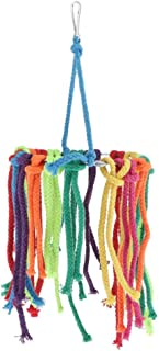 Colorful Rope Bird Chewing Toy, Parrot Cage Foraging Hanging Swing Toys for Cockatiel Conure African Grey Amazon, 2 Types ...