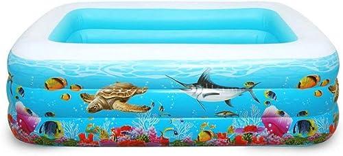 FLY FLAP Piscina Inflable Familiar con Doble Grifo De Drenaje, 200X140X85cm Piscinas Portátiles para Bebés,365  185  66cm