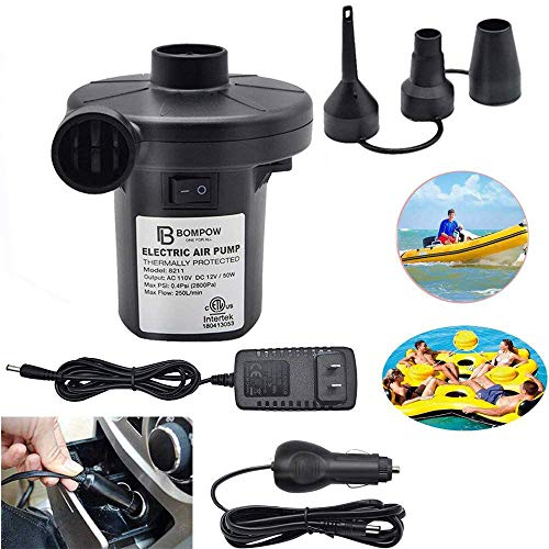 Air Pump for Inflatables Air Mattress Pump Air Bed Pool Toy Raft Boat Electric Pump for Inflatables(AC/DC Pump(50W))