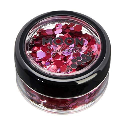 Mystique Brillant épais par Moon Glitter – 100% de paillettes cosmétique pour le visage, le corps, les ongles, les cheveux et les lèvres - 3g - Valentines