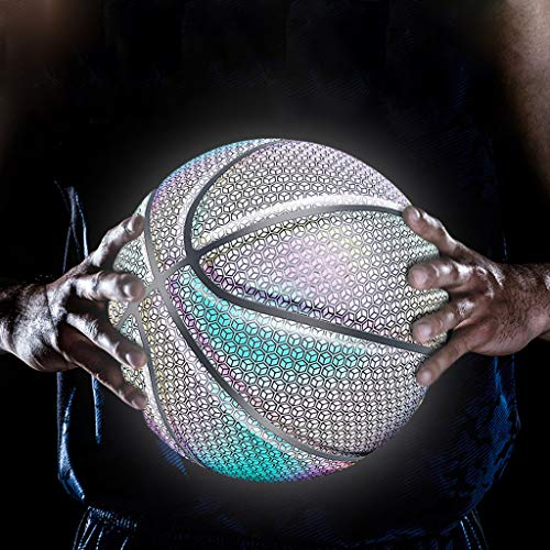 Why Should You Buy Glow Basketball Holographic Luminous Basketball Glow in The Dark Ball Sports Gift...