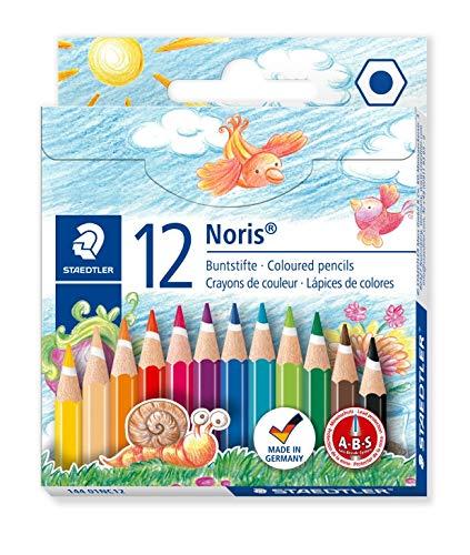 Staedtler Noris Club Half Length Coloured Pencil - Multi-Coloured, Pack of 12