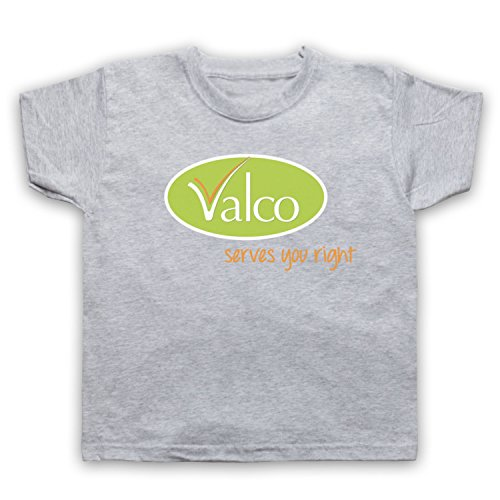 My Icon Art & Clothing Valco Serves You Right Comedy TV Supermarket Trolley per Bambini Grigio Chiaro 8 Anni