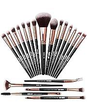 Make-up kwasten 20-delige make-up kwastenset Professionele make-up kwasten Premium synthetische foundationkwast Travel Soft Blending Gezichtspoeder Blush Concealers Oogmake-up kwasten Set Kits
