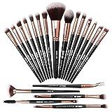 Pinceaux de maquillage 20 Pcs Pinceau de maquillage Set Pinceaux de maquillage Pinceau de fond de teint synthétique Premium Ensemble de pinceaux de maquillage pour les yeux
