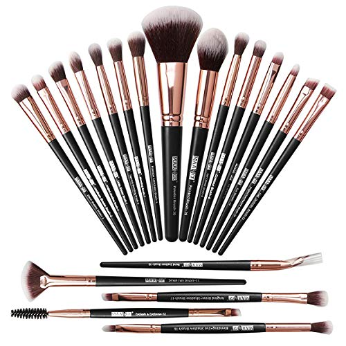 Make-up Pinsel 20 Stk Make-up Pinsel Set Professionelle Make-up Pinsel Premium Synthetic Foundation Pinsel Travel Soft Blending Gesichtspuder Rouge Concealer Augen Make-up Pinsel Set Kits