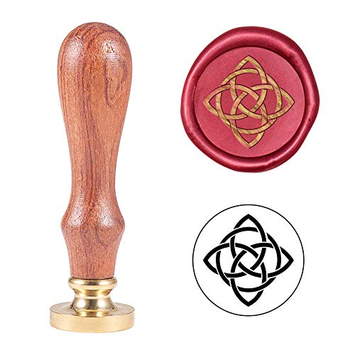 PH PandaHall Celtic Knot Wax Seal Stamp Vintage Retro Sealing Stamp for Embellishment of Envelopes, Party Invitation, Wine Packages, Gift Packing, Greeting Cards