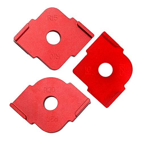 KKmoon 3 PCS Halbrunde Ecke Radius Quick Jig,R Winkel Locator Aluminiumlegierung Graviermaschine für die Holzbearbeitung