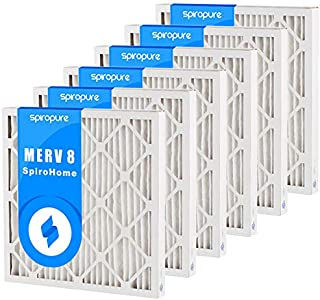 Made in USA SpiroPure 13x17x1 MERV 8 Pleated Filter Air Filters 6 Pack