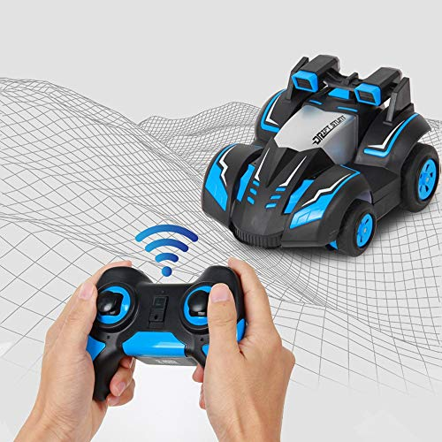 Lotee RC Car Stunt Drift Deformation Buggy Car Wireless Remote Control 360 Degree Car Tumbling Stunt Toys Children Electric Cool RC Cars Boy Birthday Best Gifts (Size : 3 Battery Packs)