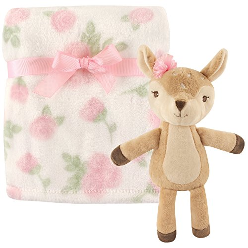 Hudson Baby Unisex Baby Plush Blanket with Toy, Fawn, One Size