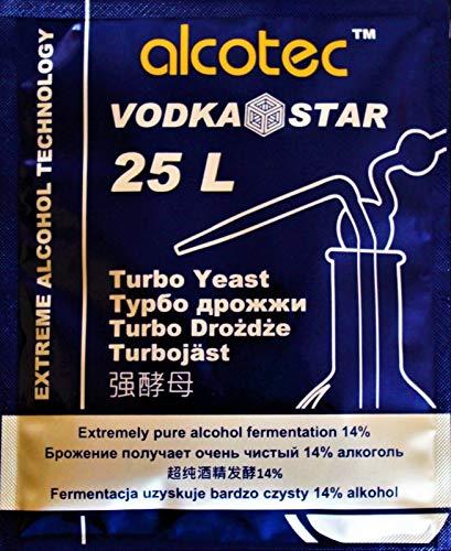 AlcoTec HUGBERT Turbohefe Vodka Star Alkohol Gärhefe Hefe Brennhefe 14% gären brauen, 1 Stück