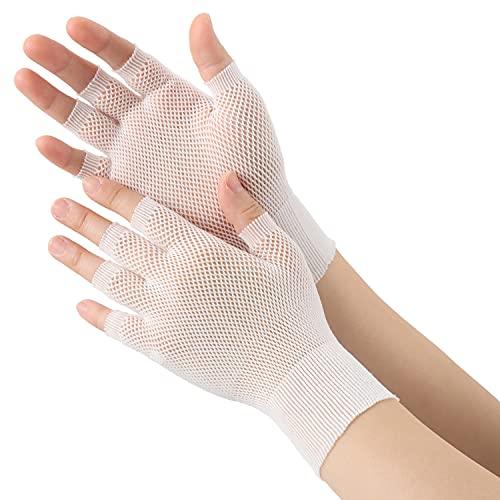エースグローブ インナー手袋 5双(10枚入) メッシュタイプ AG795 ホワイト フリーサイズ