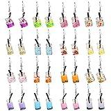 16 Pairs Cute Weird Dangle Earrings for Teen Girls Kawaii Aesthetic Boba Tea Drop Earrings (16 Pairs-A)
