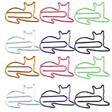 EXCEART 120pcs Cat Paper Clip Animal Shaped Paperclips Memo Clips Bookmark Clamp for Students Kids Teachers Supplies