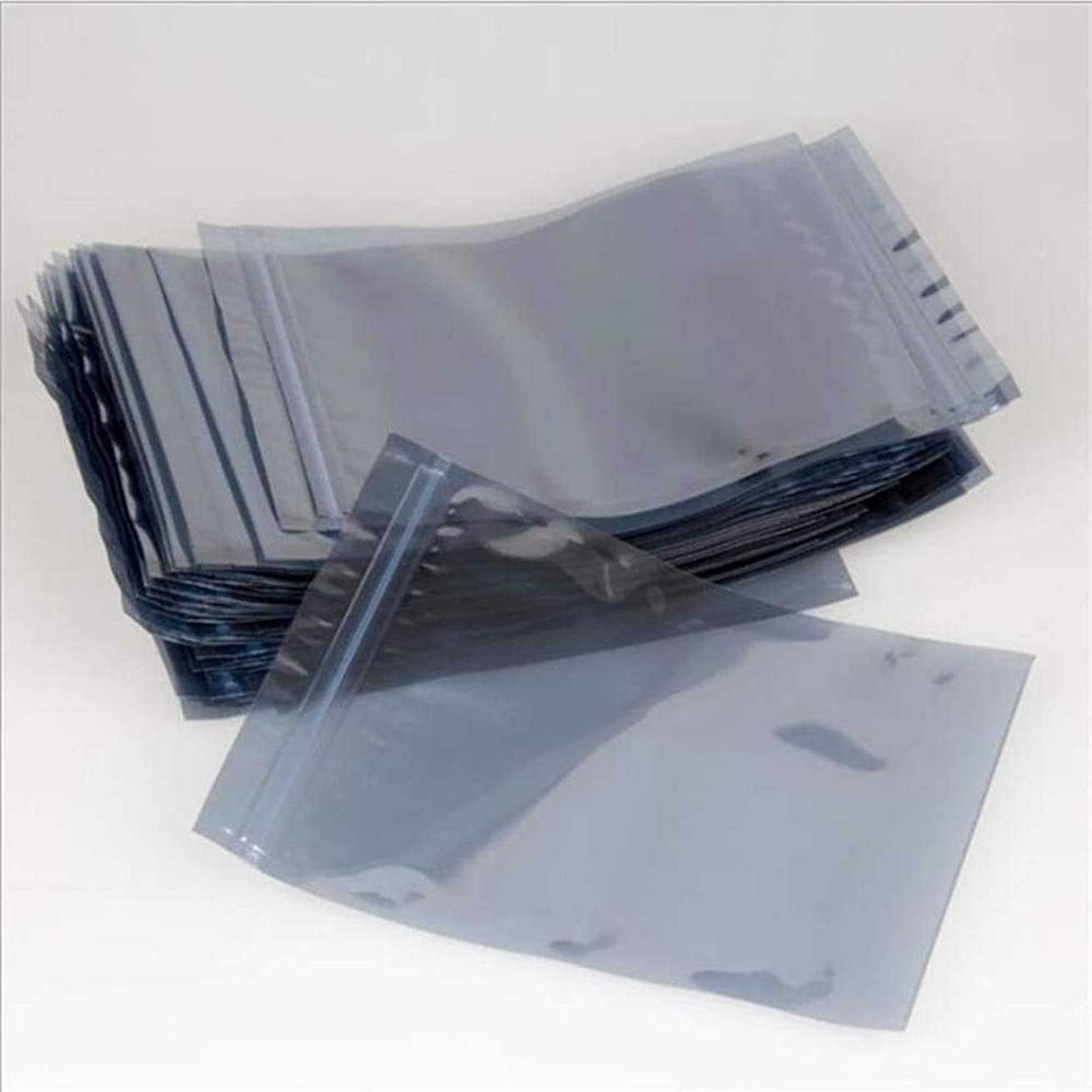 100x Antistatic Static Shielding Bags HDD Electronic Device Ziplock Bags for A Long Term Storage Packaging Pack (10x15cm (4x6 Inch))