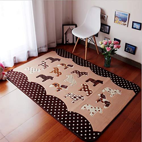 JUANstore Cartoon Pony Umweltfreundliche Wohnzimmer Couchtisch Teppich Kinderzimmer Schlafzimmer Baby Krabbelbett Vorne Anti-Rutsch-Matte,200 * 240cm