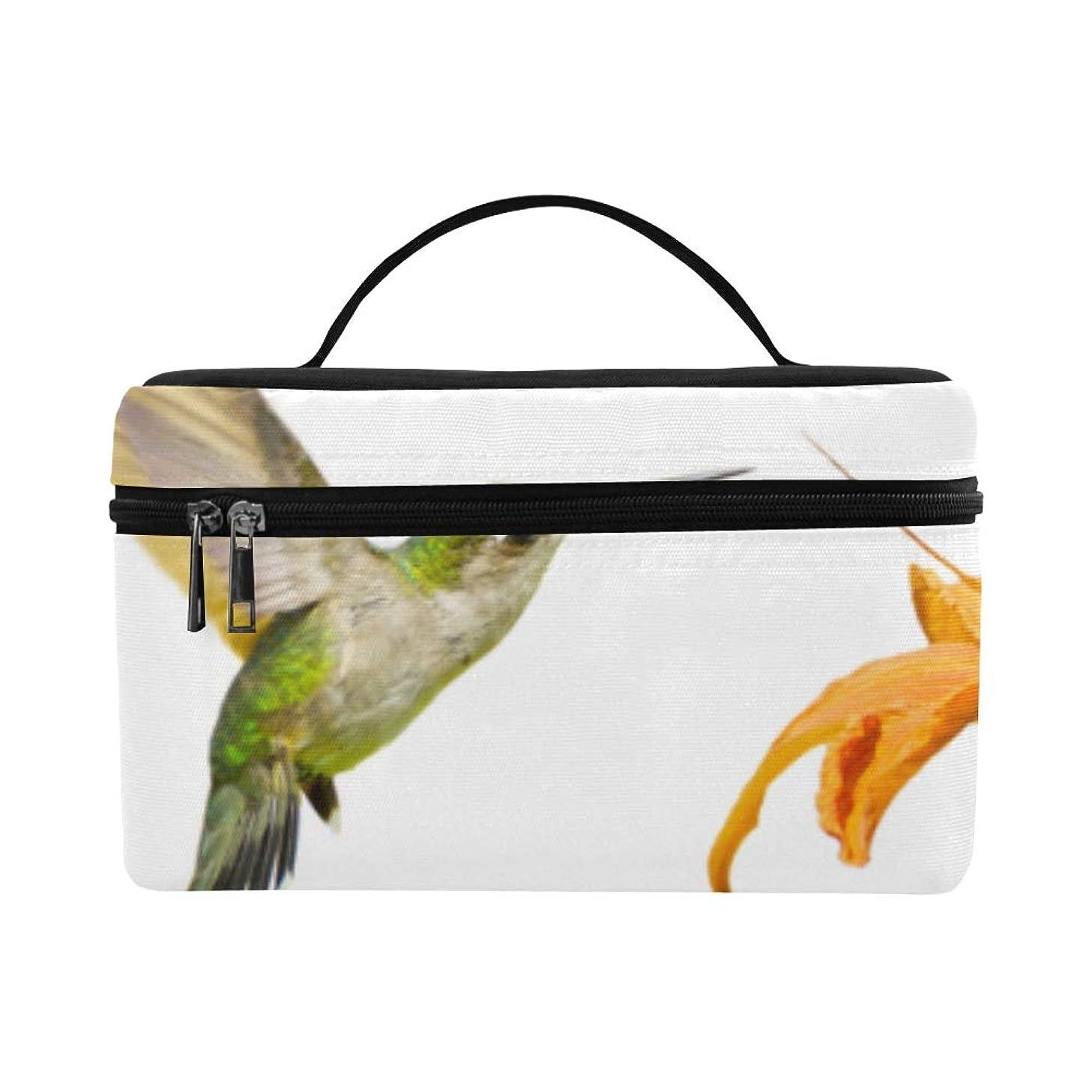 コイルスティーブンソンアスペクトKWESG メイクボックス かわいい動物 鳥 ハチドリ コスメ収納 化粧品収納ケース 大容量 収納ボックス 化粧品入れ 化粧バッグ 旅行用 メイクブラシバッグ 化粧箱 持ち運び便利 プロ用