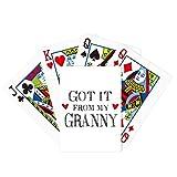 Got It from My Granny Grandma Present Poker Juego de cartas mágicas divertido juego de mesa