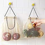 vwlvrsco Fruit Vegetable Garlic Onion Hanging Storage Mesh Bag Organizer Breathable Pouch