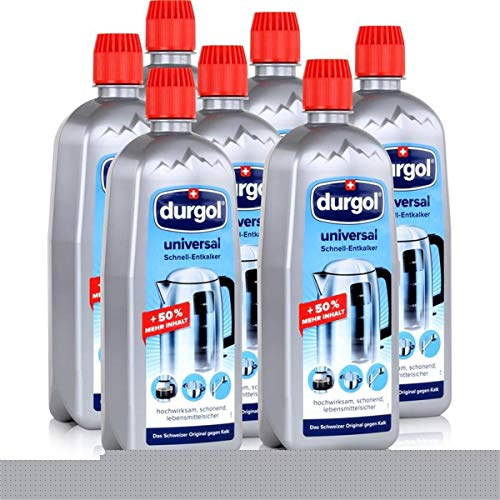 Durgol Universal Schnell-Entkalker 750ml - hochwirksam, schonend, lebensmittelsicher - Befreit alle Gegenstände im Haushalt schnell und einfach von Kalk (7er Pack)