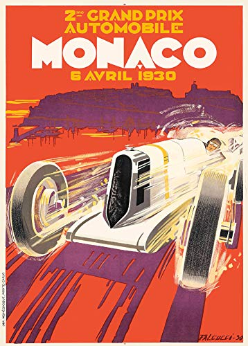 Vintage Automobile The 1930 Monaco Grand Prix - Póster (250 g/m², acabado brillante)