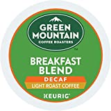Green Mountain Coffee, Breakfast Blend Decaf, Single-Serve Keurig K-Cup Pods, Light Roast, 96-Count (4 Boxes of 24 Pods)