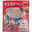 【Amazon.co.jp限定】 チャオ (CIAO) 猫用おやつ ちゅ~る まぐろバラエティ 14g×45本入