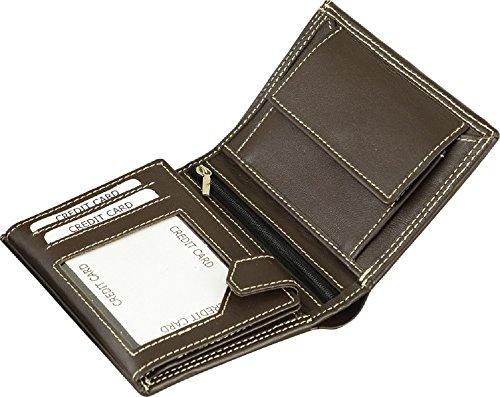 Fuente Leather Wears  WLT008-010RN, Portafogli  Donna, marrone (marrone) - WLT010