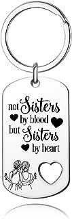 Best Friend Keychain, BFF Keychain ,Not Sisters by Blood But Sisters by Heart Keychain for Sisters, Best Friend Gifts