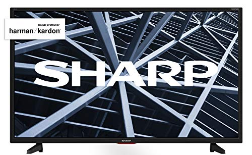 Sharp Aquos LC-32BB5E - 32' HD Ready LED TV, DVB-T2/S2, 1366 x 768 Pixels, Nero, suono Harman Kardon, 3xHDMI 2xUSB, 2019