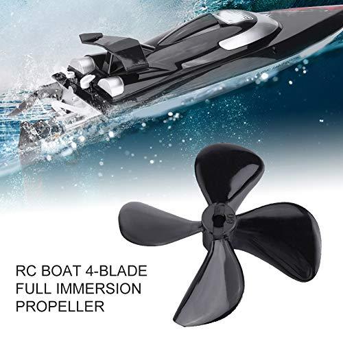 Dilwe RC Boat 4-Blatt Propeller, 2 Stück hochfestem CW CCW Kunststoff 4-Blatt Full Immersion Propeller für RC Modellboot Zubehörteile