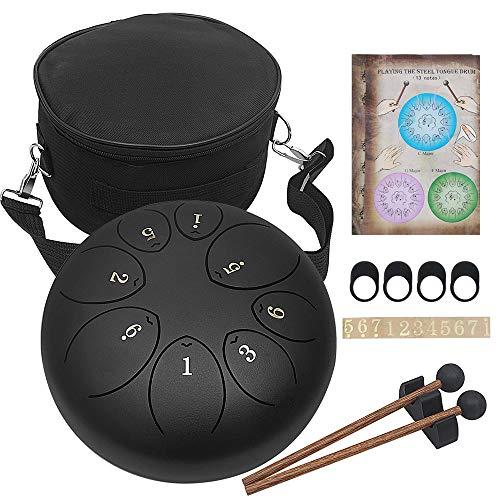 8 inch stalen tong drum 8 ton C pan drum key percussie-instrument met stokken en draagtas