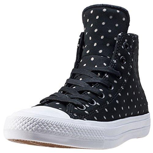 La File Des Fleurs - Zapatillas Deportivas de Mujer de Piel Blanca Boston con Logotipo Lateral en el Empeine y Tachuelas con Estrellas Doradas. Base de Goma. Blanco Size: 36 EU (Zapatos)