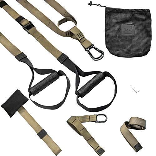 Infinitsports - Elite Schlingentrainer Set mit 3 Befestigungslösungen (inkl. Türanker), Premium Sling Trainer/Suspension Trainer für Ganzkörpertraining/Fitness, Krafttraining für zuhause und unterwegs