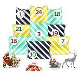 O-Kinee Calendario de Adviento, 24 Cajas de Regalo Navidad con 24 Pegatinas de Números Navideños, DIY Calendarios Adviento para Dulces Joyas Frutos Secos Chocolate